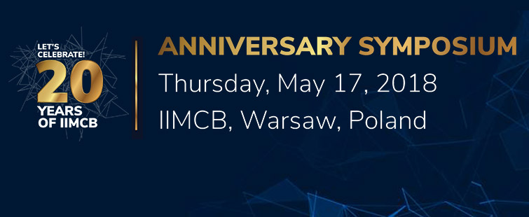 IIMCB Anniversary Symposium, May 17, 2018