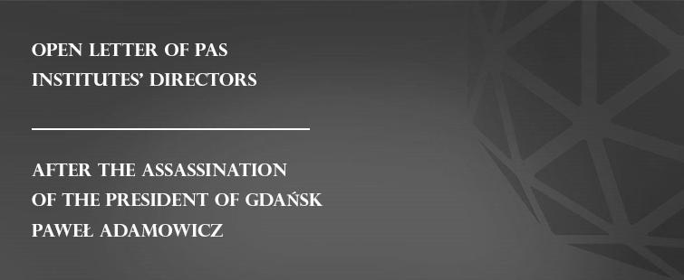 Open letter of PAS institutes' directors