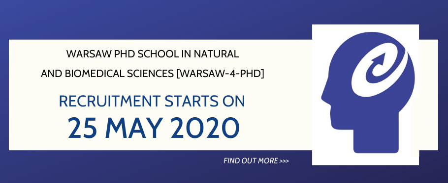 [Warsaw-4-PhD] - recruitment started on 25th of May