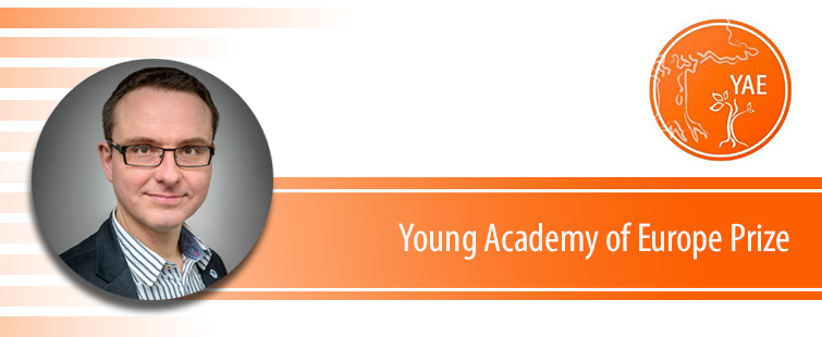 Prof. Janusz M. Bujnicki as a laureate of the Young Academy of Europe (YAE) Prize 2019