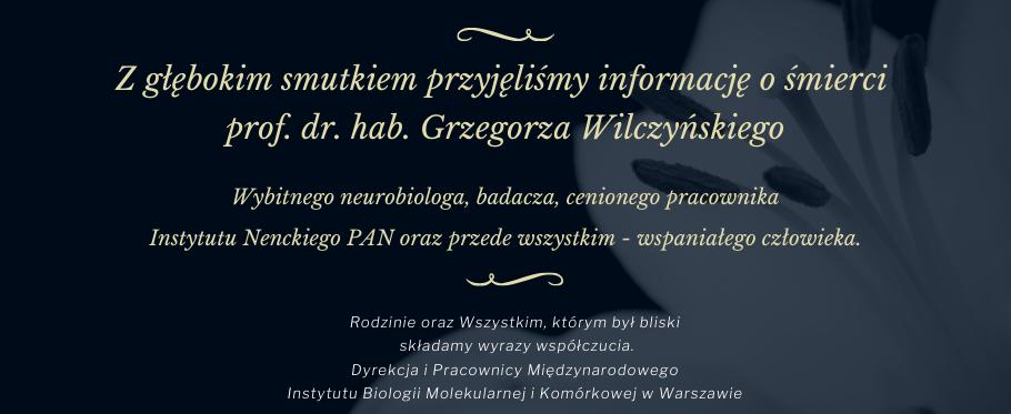 Pożegnanie prof. dr. hab. Grzegorza Wilczyńskiego